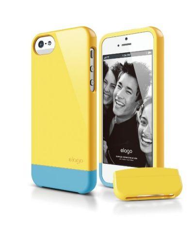 Калъф Elago S5 Glide за iPhone 5, Iphone 5s - жълт - 1