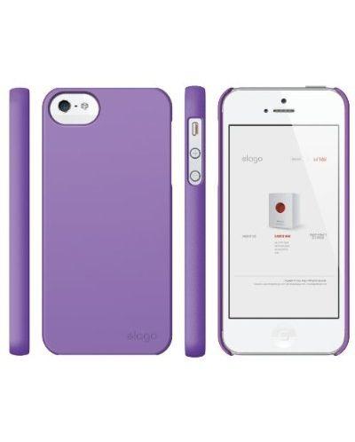 Elago S5 Slim Fit 2 Case + HD Clear Film за iPhone 5 -  лилав-мат - 4