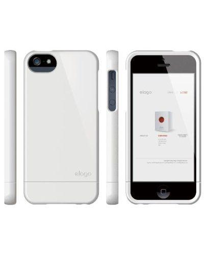 Калъф Elago S5 Glide за iPhone 5, Iphone 5s - бял-гланц - 4