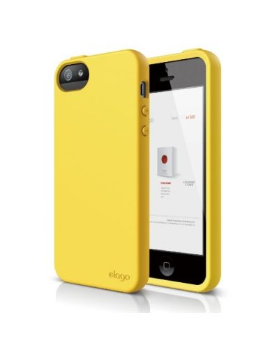 Калъф Elago S5 Flex за iPhone 5, Iphone 5s -  жълт - 1