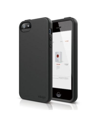Elago S5 Flex Case за iPhone 5 -  черен - 1