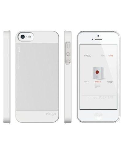 Elago S5 Outfit Aluminum за iPhone 5 -  бял - 2