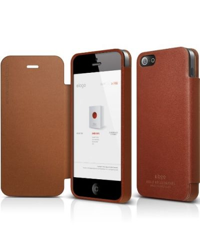 Elago S5 Leather Flip Case за iPhone 5 -  Limited Edition - 1