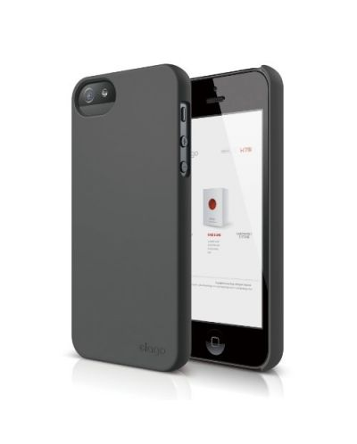 Elago S5 Slim Fit 2 Case за iPhone 5 -  тъмносив - 1