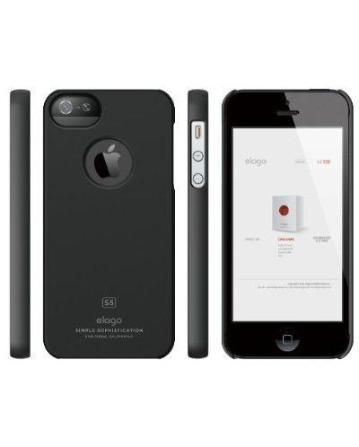 Elago S5 Slim Fit Case за iPhone 5 -  черен - 3