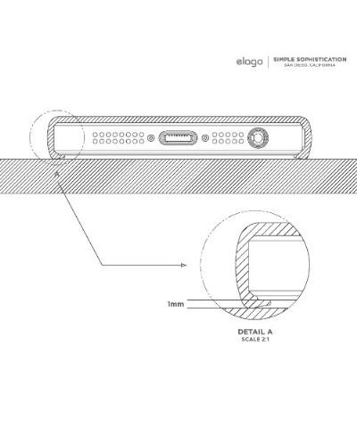 Калъф Elago S5 Glide за iPhone 5, Iphone 5s - червен-гланц - 7