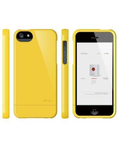 Калъф Elago S5 Glide за iPhone 5, Iphone 5s - жълт - 4