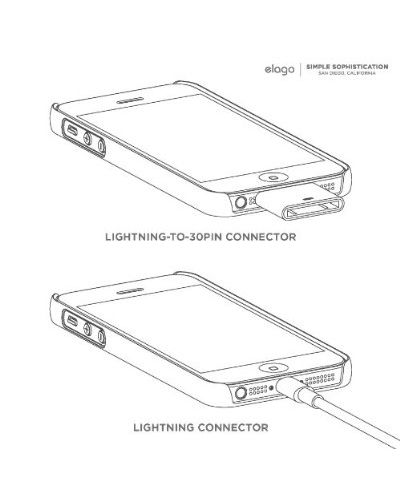 Elago S5 Slim Fit 2 Case + HD Clear Film за iPhone 5 -  лилав-мат - 6