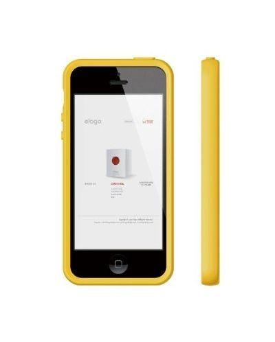 Калъф Elago S5 Flex за iPhone 5, Iphone 5s -  жълт - 4