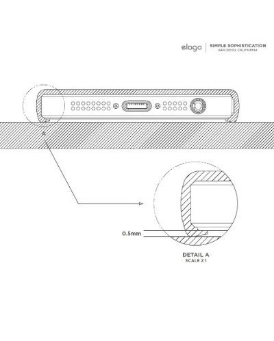 Калъф Elago S5 Glide за iPhone 5, Iphone 5s -  лилав-мат - 8