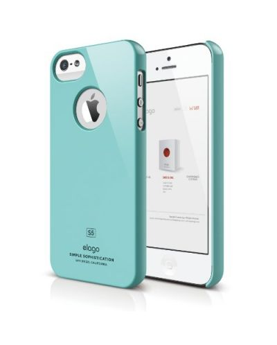 Elago S5 Slim Fit Case за iPhone 5 -  светлосин - 1