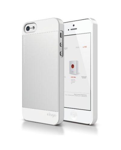 Elago S5 Outfit Aluminum за iPhone 5 -  бял - 1