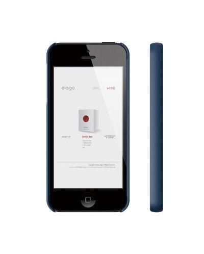Elago S5 Slim Fit 2 Case за iPhone 5 -  тъмносин - 3