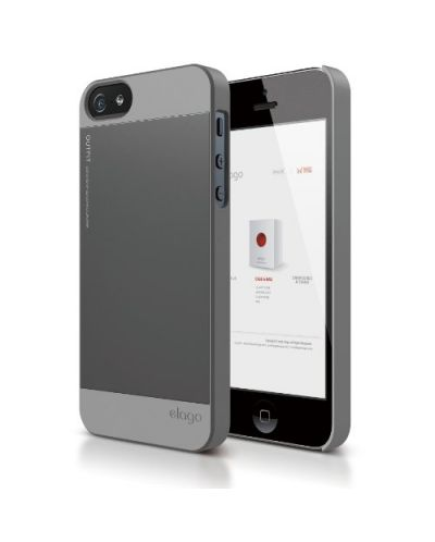 Elago S5 Outfit Aluminum за iPhone 5 -  сив - 1