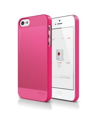 Elago S5 Outfit Aluminum за iPhone 5 -  розов - 1
