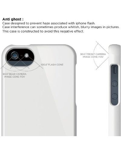 Калъф Elago S5 Glide за iPhone 5, Iphone 5s - бял-гланц - 3