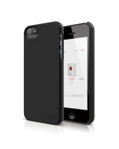Elago S5 Slim Fit 2 Case за iPhone 5 -  черен - 1