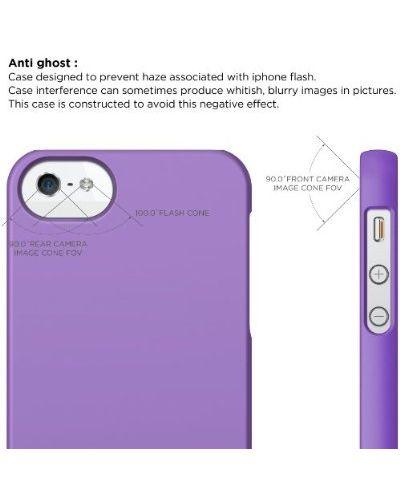 Elago S5 Slim Fit 2 Case + HD Clear Film за iPhone 5 -  лилав-мат - 3