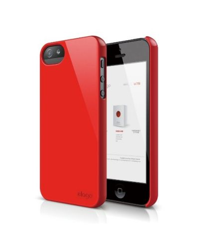 Elago S5 Slim Fit 2 Case за iPhone 5 -  червен - 1