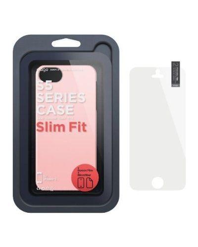 Elago S5 Slim Fit 2 Case за iPhone 5 -  светлорозов - 2