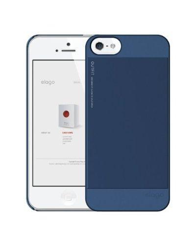 Elago S5 Outfit Aluminum за iPhone 5 -  тъмносин - 3