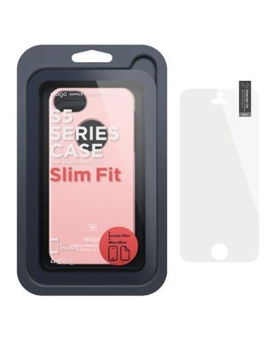 Elago S5 Slim Fit Case за iPhone 5 -  светлорозов - 6