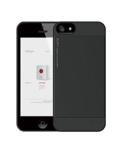 Elago S5 Outfit Aluminum за iPhone 5 -  черен - 4