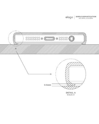 Elago S5 Outfit Matrix Aluminum + HD Clear Film за iPhone 5 -  червен - 6