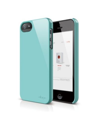 Elago S5 Slim Fit 2 Case за iPhone 5 -  син - 1