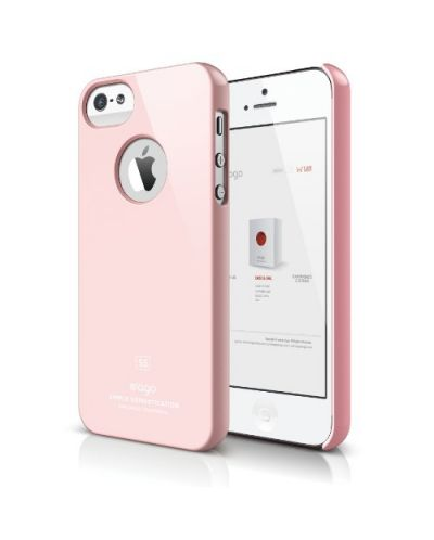 Elago S5 Slim Fit Case за iPhone 5 -  светлорозов - 1