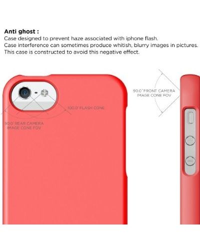 Калъф Elago S5 Glide за iPhone 5, Iphone 5s - светлочервен - 8