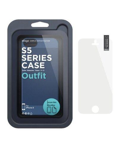 Elago S5 Outfit Aluminum за iPhone 5 -  тъмносин - 4