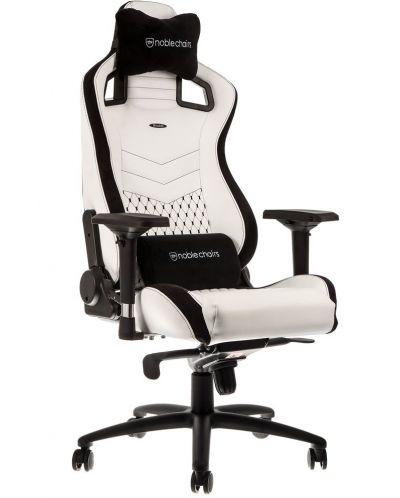 Гейминг стол noblechairs EPIC - бял/черен - 1