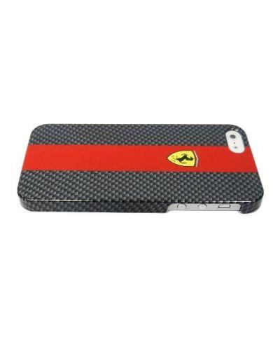 Ferrari Carbon Effect за iPhone 5 -  червено-черен - 3