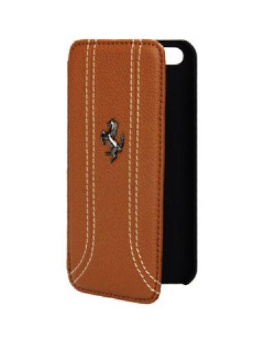 Ferrari FF Series Book за iPhone 5 - Flip-Case - кафяв - 1