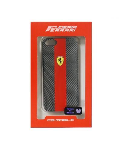 Ferrari Carbon Effect за iPhone 5 -  червено-черен - 5