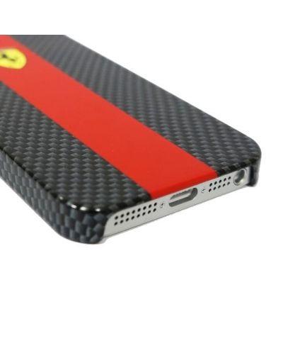 Ferrari Carbon Effect за iPhone 5 -  червено-черен - 4
