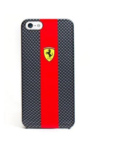 Ferrari Carbon Effect за iPhone 5 -  червено-черен - 1