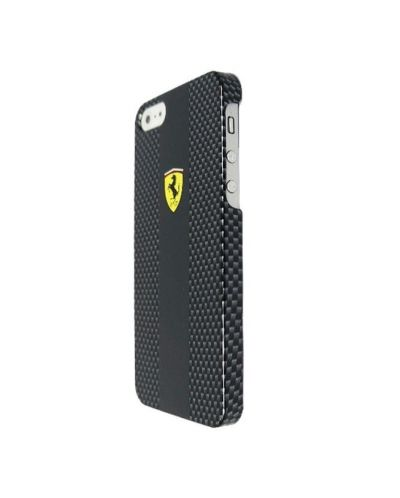 Ferrari Carbon Effect за iPhone 5 -  черен - 2