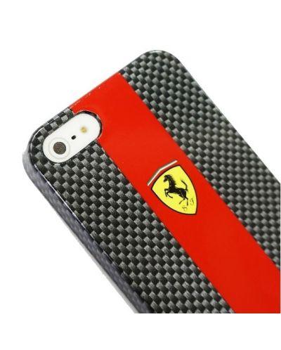 Ferrari Carbon Effect за iPhone 5 -  червено-черен - 6