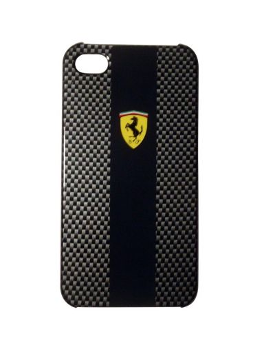 Ferrari Carbon Effect за iPhone 5 -  черен - 1