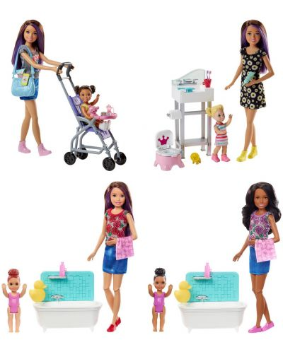 Игрален комплект Mattel Barbie - Детегледачка, асортимент - 1