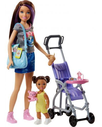 Игрален комплект Mattel Barbie - Детегледачка, асортимент - 7