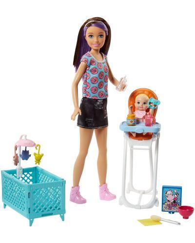 Игрален комплект Mattel Barbie - Детегледачка, асортимент - 4