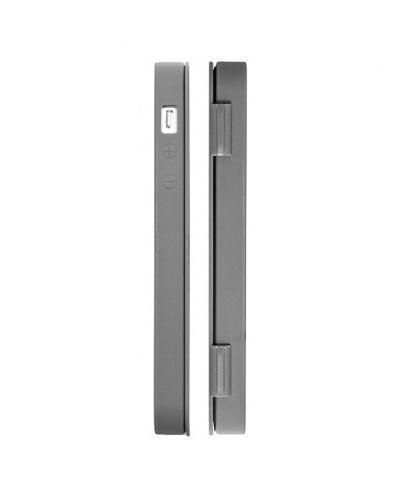 FitCase TPU Flip Case  силиконов кейс тип портфейл за iPhone 5 (сив) - 2
