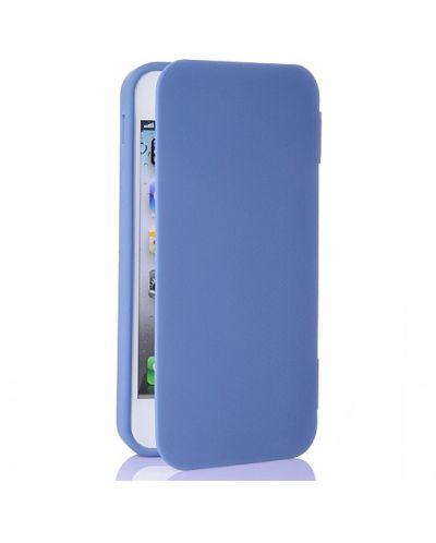 FitCase TPU Flip Case  силиконов кейс тип портфейл за iPhone 5 (син) - 2
