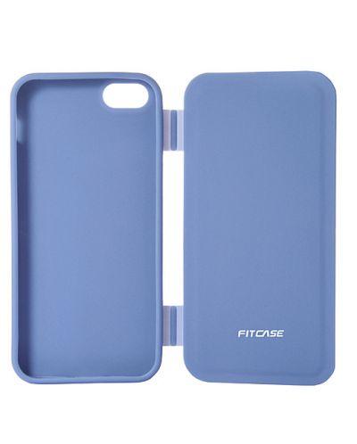 FitCase TPU Flip Case  силиконов кейс тип портфейл за iPhone 5 (син) - 5