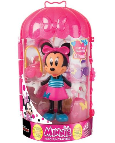Фигурка IMC Toys - Мини Маус, пътешественичка - 1