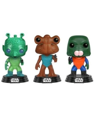 Фигури Funko Pop! Star Wars: Greedo, Hammerhead, Walrus - 3-Pack - 1