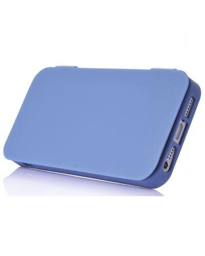 FitCase TPU Flip Case  силиконов кейс тип портфейл за iPhone 5 (син) - 3